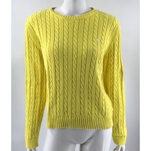 Ralph Lauren Yellow Cotton Crew Sweater